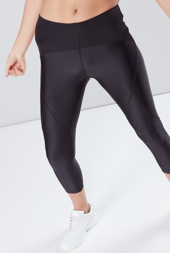 Compression Calf Length Mid-Waist Capris with Elasticised Waistband