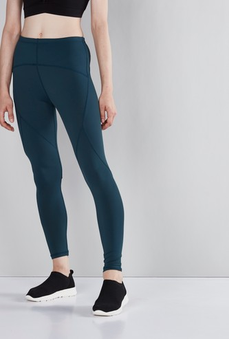 Ankle Length Leggings with Stitch Detail