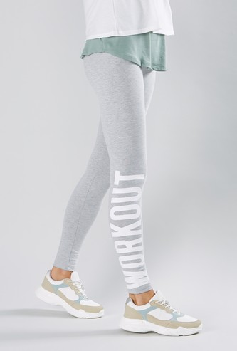 Printed Full Length Leggings with Elasticised Waistband