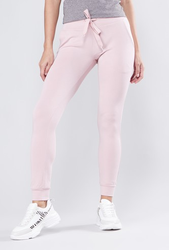Solid Track Pants with Drawstring Waistband