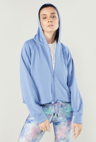 Oversized Sweat Top with Hood and Long Sleeves