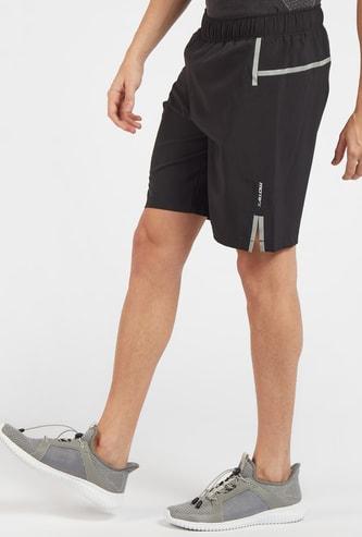 شورت طول الركبة بدون خياطة وبخصر مطاطي