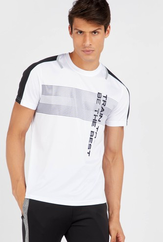 Regular Fit Printed Crew Neck T-shirt with Short Sleeves