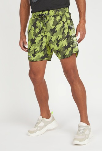 Printed Shorts with Pocket Detail and Elasticised Waistband