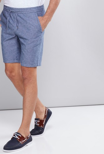 Striped Shorts with Pocket Detail and Elasticised Waistband