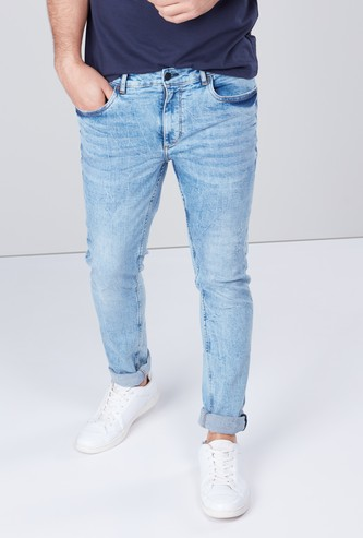 Jeans with 5-Pockets and Button Closure