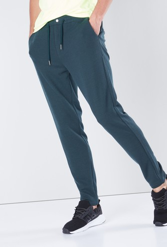 Textured Pants with Pocket Detail and Drawstring