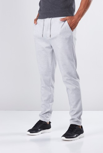 Full Length Mid-Rise Pants in Slim Fit with Pocket Detail