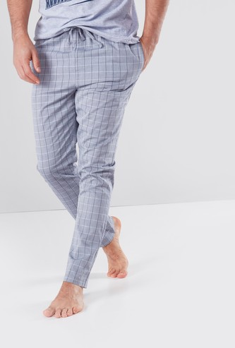 Chequered Lounge Pyjamas with Pocket Detail and Drawstring