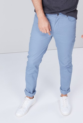 Solid Chinos in Slim-Fit with 5 Pockets