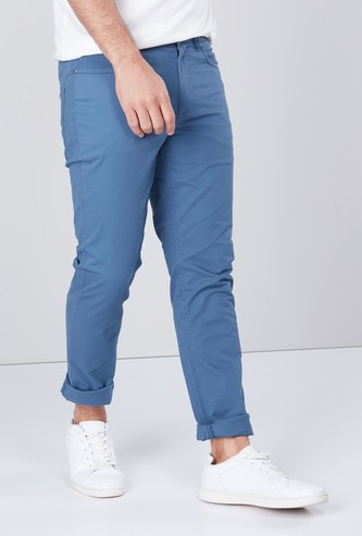 Skinny Fit Trousers with 5 Pockets and Belt Loops