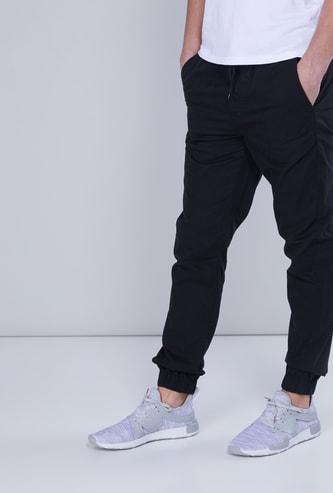 Full Length Jog Pants in Regular Fit with Pocket Detail