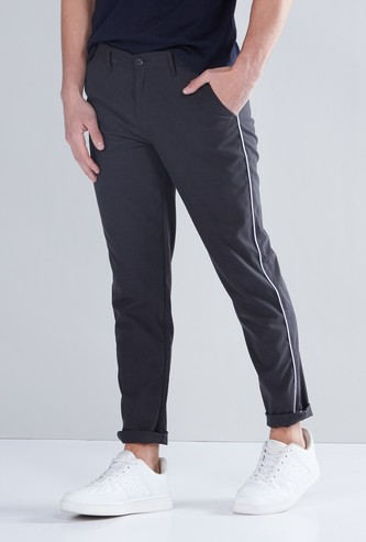 Solid Chinos with Side Tape Detail