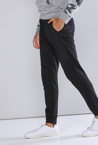Full Length Jog Pants in Slim Fit with Pocket Detail and Drawstring