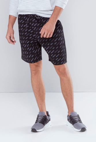 Printed Shorts in Slim Fit with Pocket Detail and Drawstring