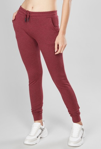 Textured Track Pants with Cuffed Hems