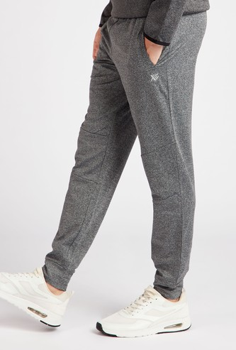 Textured Full Length Joggers with Pockets and Drawstring Closure