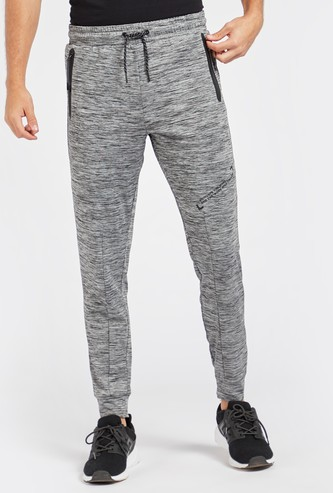 Full Length Printed Joggers with Drawstring Closure and Slip Pockets