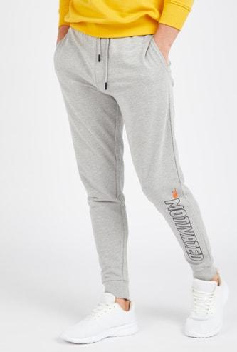 Printed Anti-Pilling Jog Pants with Pockets and Drawstring
