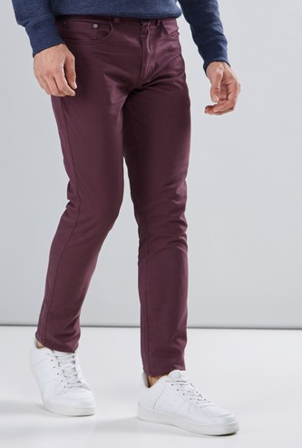 Full Length Chinos with Pocket Detail and Button Closure
