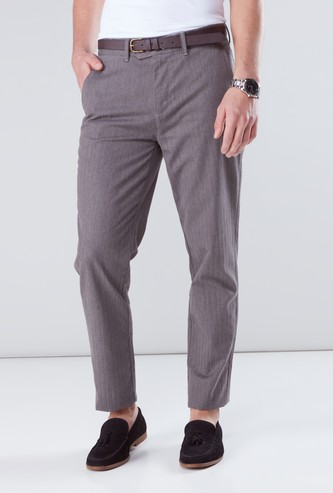 Textured Pants with Pocket Detail