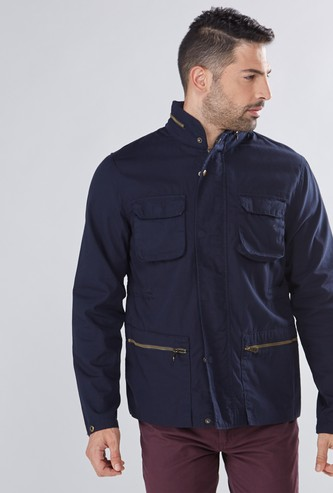 Long Sleeves Jacket with Pocket Detail and Hood