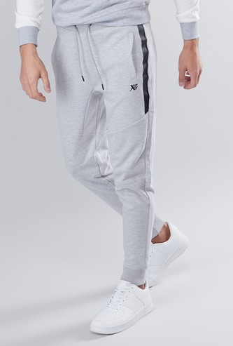 Slim Fit Panelled Jog Pants with Pocket Detail and Drawstring