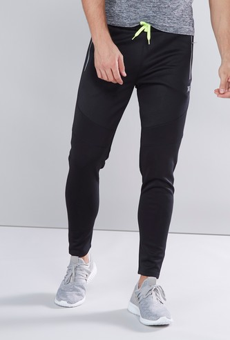 Skinny Track Pants with Pocket Detail and Drawstring