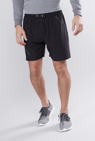 Knee Length Shorts with Drawstring Closure
