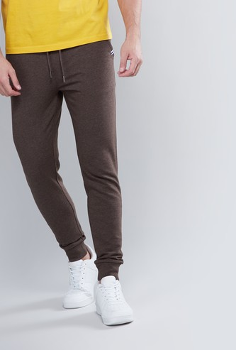 Slim fit Full Length Plain Jog Pants with Pocket Detail and Drawstring