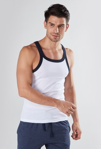 Plain Vest with Scoop Neck