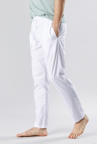 Solid Lounge Pyjamas with Drawstring Waistband