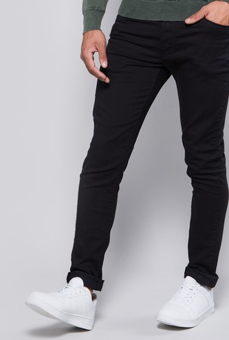 Solid Jeans with Pocket Detail