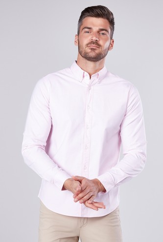 Plain Button Down Shirt with Long Sleeves
