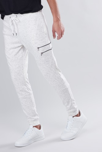 Slim Fit Printed Mid Rise Jog Pants with Pocket Detail and Drawstring