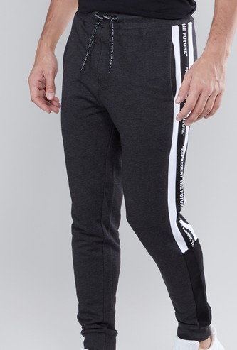 Textured Slim Fit Joggers with Slip Pockets