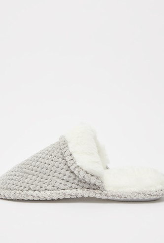 Plush Slip-On Bedroom Slippers