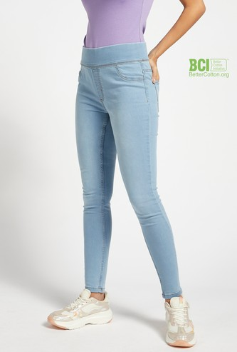 Super Skinny Fit Jegging with Mock Pockets