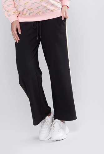 Wide Fit Plain Maternity Mid Waist Palazzo Pants