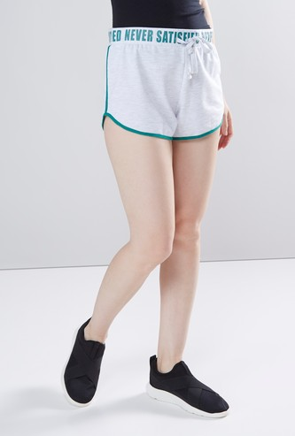 Printed Shorts with Drawstring and Elasticised Waistband