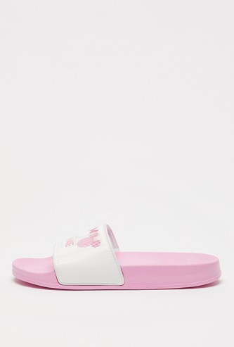 Minnie Mouse Print Slip-On Slides