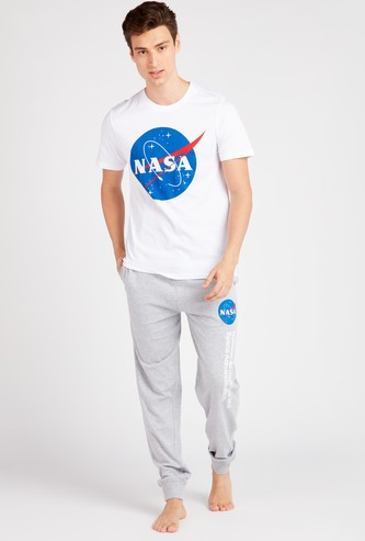 NASA Print Short Sleeves T-shirt and Pyjama Set