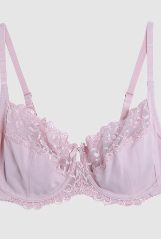 Bra with Adjustable Straps and Hook Closure