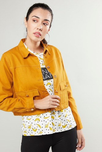 Trucker Jacket with Brushed Buttons