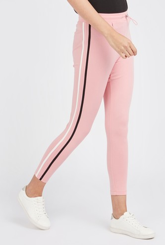 Solid Leggings with Drawstring Closure