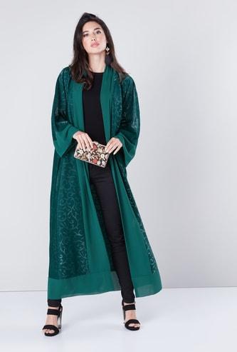 Printed Abaya with Long Sleeves