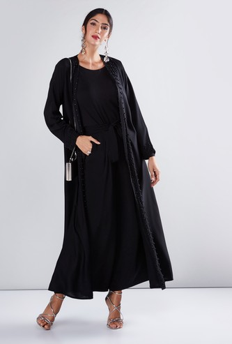 Embellished Abaya in Straight Cut