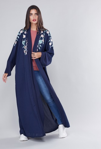 Floral Embroidered Abaya