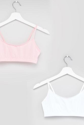 Set of 2 - Bow Embellished Bra with Shoulder Strap