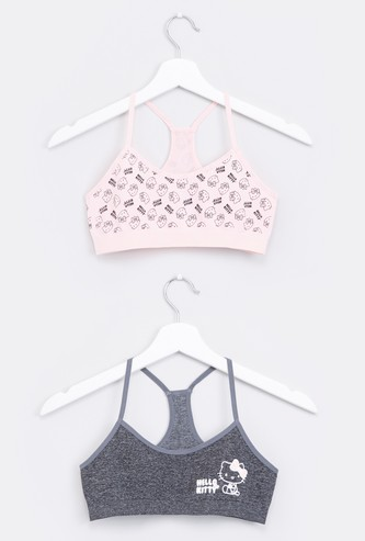 Hello Kitty Printed Sports Bra with Racerback - Set of 2